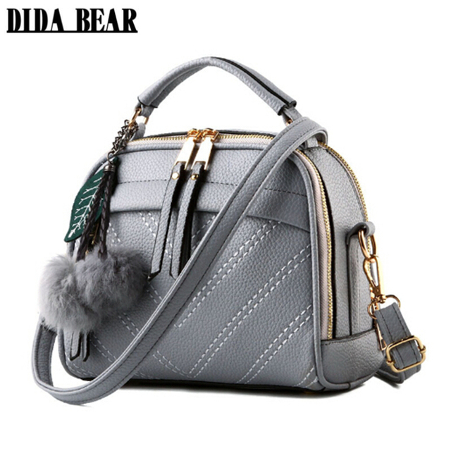 2d2d4541e132 DIDABEAR Brand New women Leather messenger bags lady cute handbags Girls  shoulder bag bolsas Gray Pink