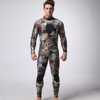 SCR 3 mm neoprene diving suits men spearfishing Surf camouflage suit diving equipment spearfishing suits split S XXL