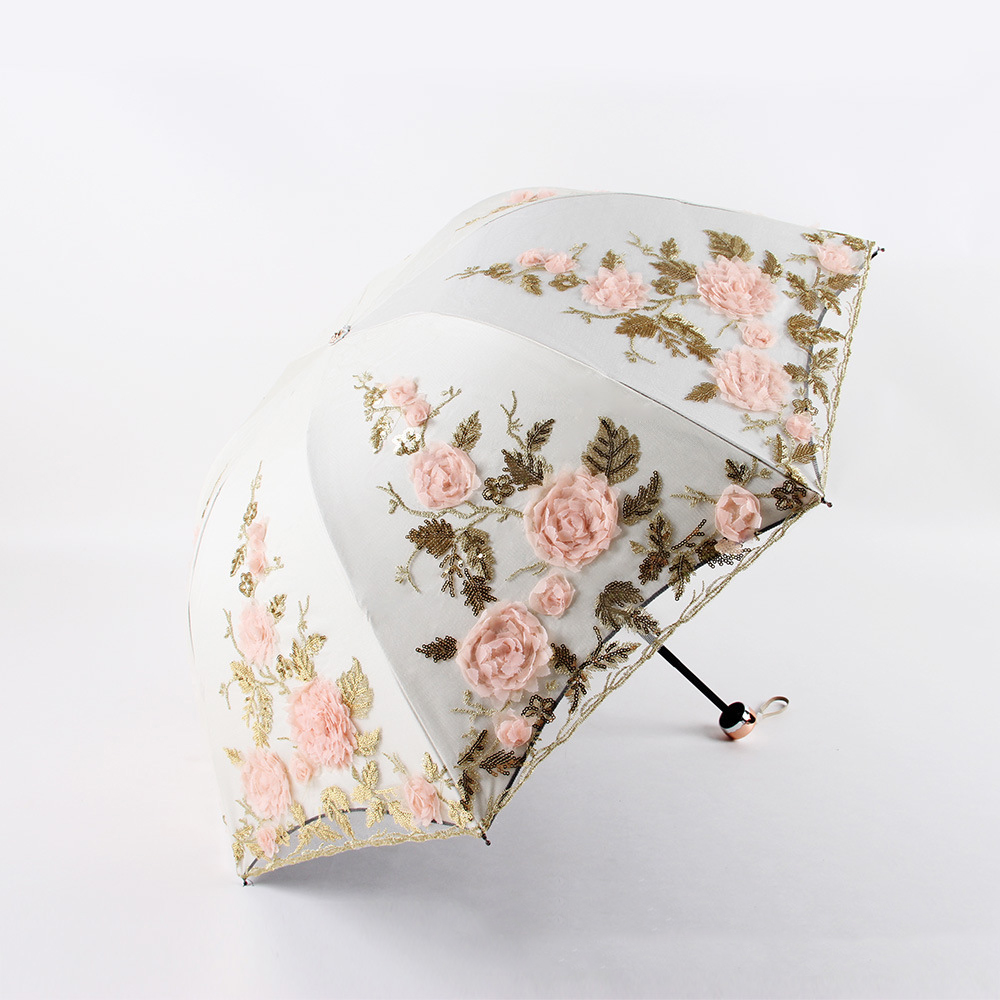 Simanfei Foldable Umbrella Rain Women Elegant Lace Umbrella Windproof Parasol Sunshade Rain Umbrella Anti-UV Waterproof ParasolSimanfei Foldable Umbrella Rain Women Elegant Lace Umbrella Windproof Parasol Sunshade Rain Umbrella Anti-UV Waterproof Parasol
