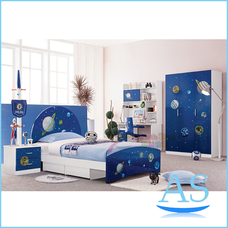 china hot sale kids bedroom furniture children bedroom set bedroom for boy k321 2-in bedroom