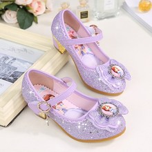 2019 Spring Girls Princess Single Sandals Heels Snow Queen Colors Glass  Slipper Shoes From 3 To 39c33d27b9df
