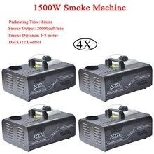 4Pcs/Lot 1500W DMX Smoke Machine Disco Stage Mist Effect 110V-240V DMX512 Control For Party DJ Club Halloween Decorations стоимость
