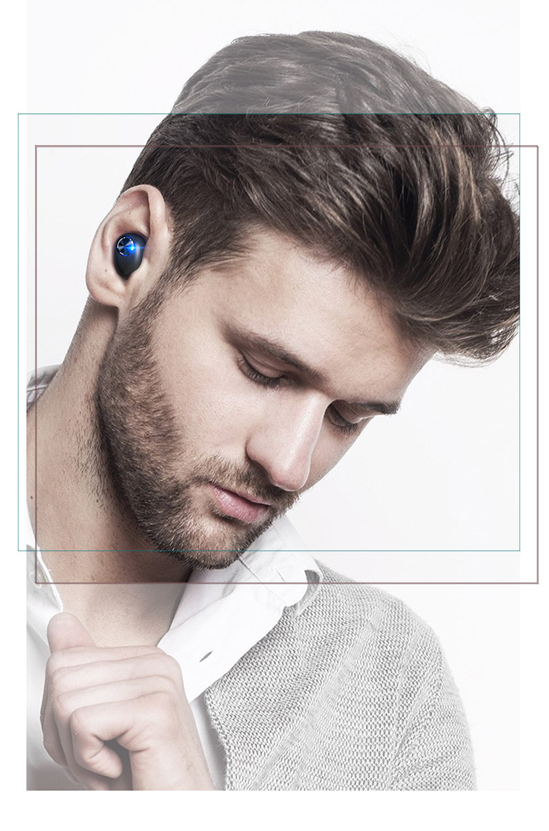Mini Wireless Headphones Bluetooth Headset Noise Cancelling Earbuds TWS Stereo Earphone With Mic Charging box Bass Headphones (22)