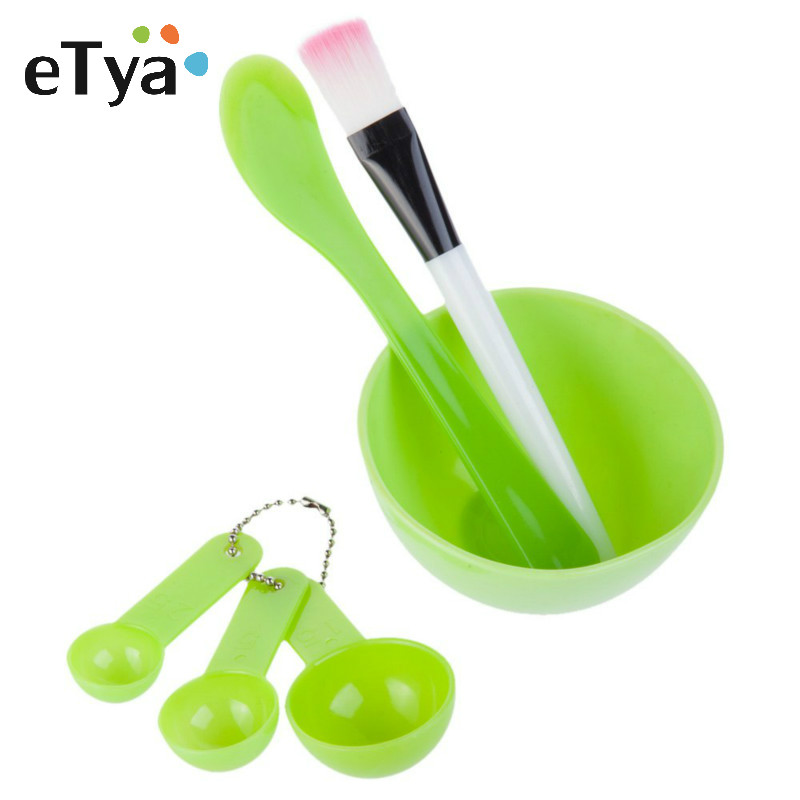 4 In 1 DIY Facial Beauty Mask Bowl Women Cosmetic Makeup Tool With Brush Mixed Stir Spatula Stick Measuring Spoon Kit