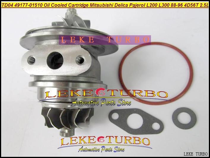 Oil Turbo CHRA Cartridge TD04 49177-01510 49177-01511 MD094740 MD168053 For Mitsubishi Delica Pajero L200 L300 4D56T 4D56 2.5L