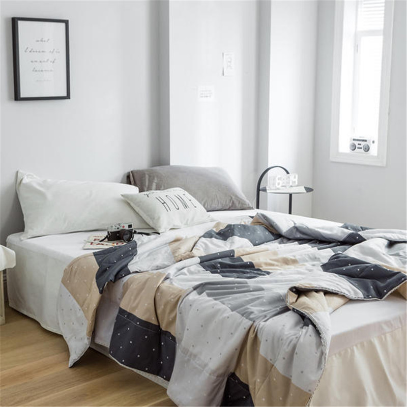 US 4040 40% OFFAliexpress Buy New Comfortable 40% Cotton Brief Style Printing Summer Air Conditioner Cool Thin Quilt Home Textile Bedding Awesome Bedroom Air Conditioners Style Interior
