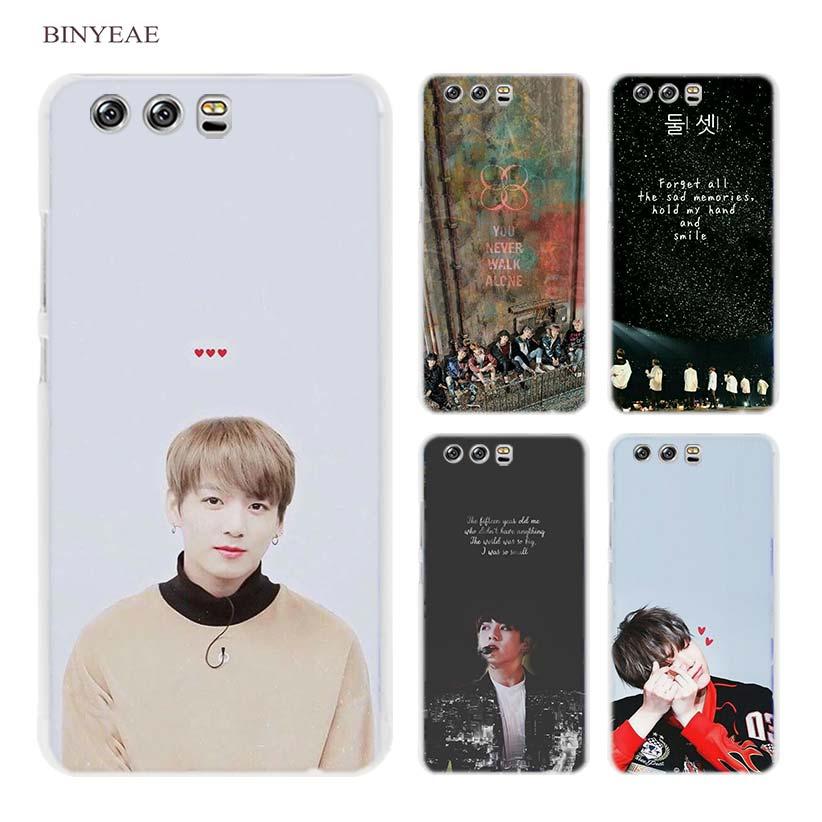 Binyeae BTS огонь СУГА без джемы J-надеюсь жесткий прозрачный чехол Coque для Huawei P8  ...