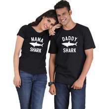 468d5117e SHARK couple tshirt for men and women daddy mommy lovers kawaii funny  matching clothes girlfriend boyfriend