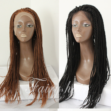 Braided Lace Front Wigs Black Long Synthetic Wigs For Black Women Best Thick Full Hand Braided Synthetic Hair Micro Braided Wig