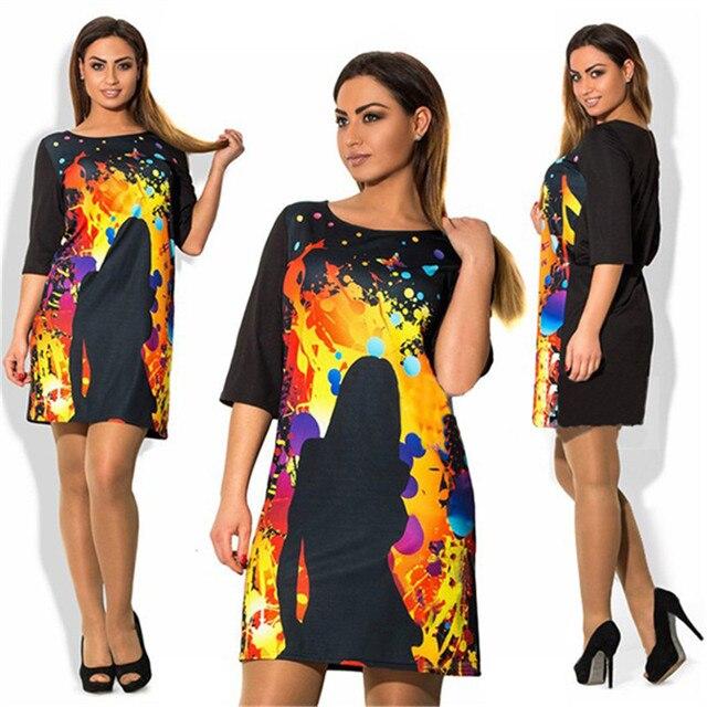 Big Size 3XL 4XL Women Dress 2016 Fashion Summer Style Dress Short Plus Size Party Dresses vestidos de festa 6xl 5xl Large Size