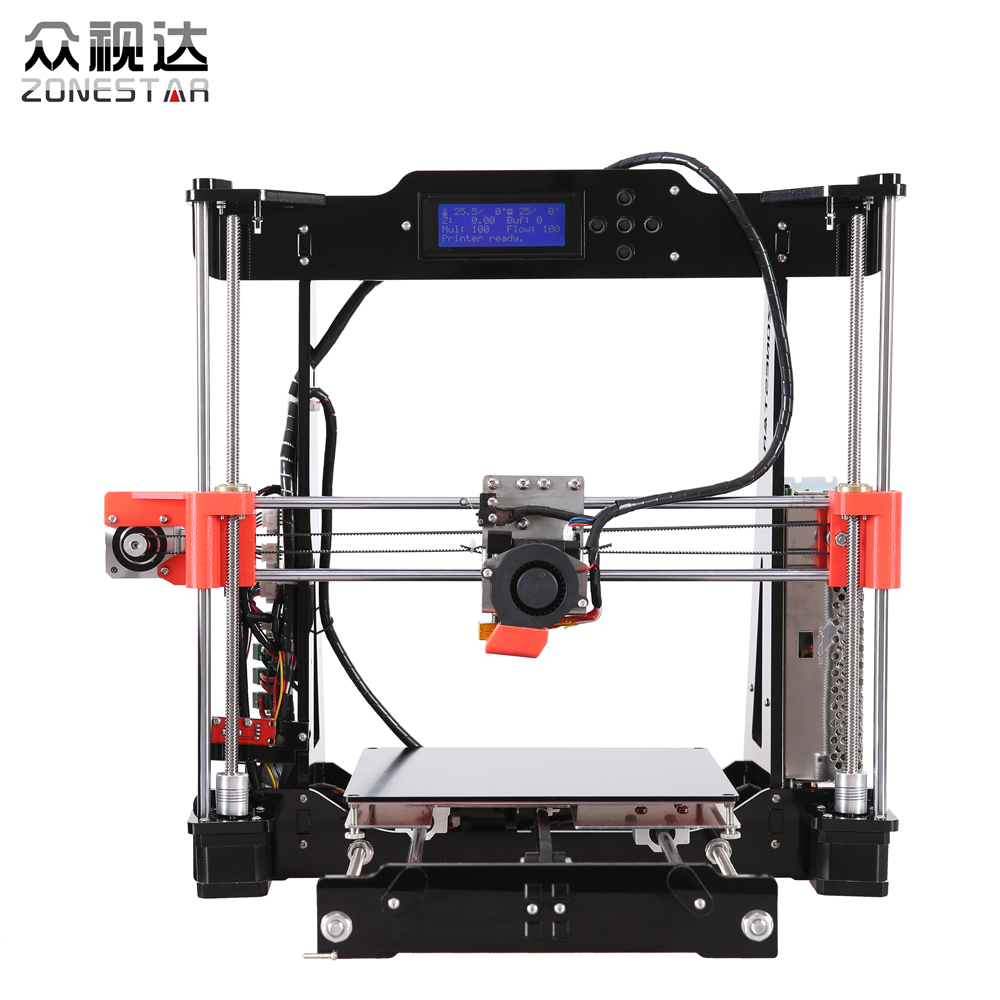 Optional Dual Extruder Reprap Prusa i3 3d printer DIY kit P802N/P802NR2 Selectable Filament SD Card LCD Free Shipping high precision reprap prusa i3 3d printer diy kit bowden extruder easy leveling acrylic lcd free shipping sd card filament tool