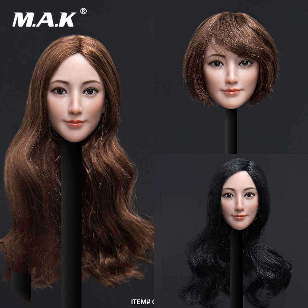 1//6 Customized Male//Female Head Sculpt Carving Model Fit 12/'/' Action Figure Toy