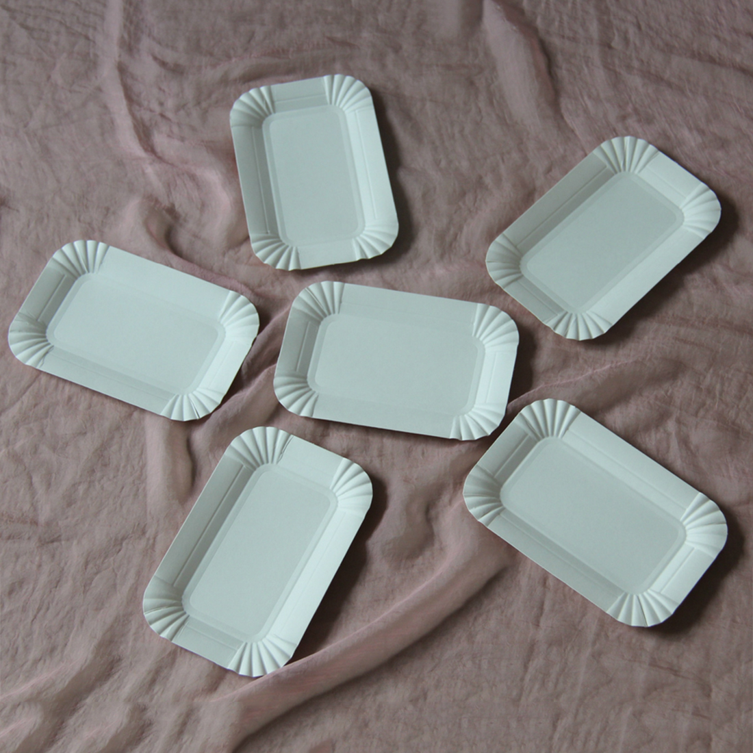 Hot selling 20Pcs Disposable paper plates Rectangular Dinnerware Paper Plates festival Easter wedding party supplies-in Disposable Party Tableware from Home ... & Hot selling 20Pcs Disposable paper plates Rectangular Dinnerware ...