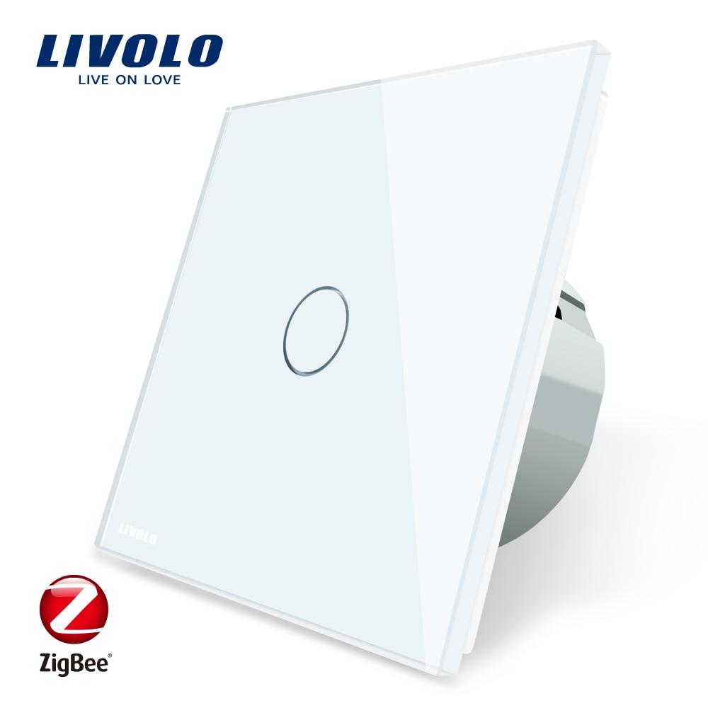 Livolo EU Standard Zigbee Smart Home interrupteur tactile mural, contrôle tactile/WiFi/APP, fonctionne avec Alexa, fonctionne uniquement avec la passerelle Livolo