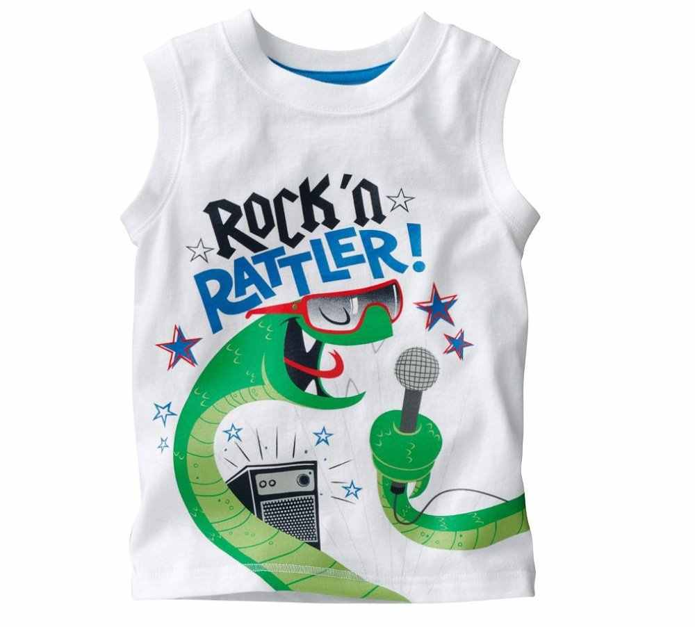 f92011509 ... Hooyi Sleeveless Baby Boys T-shirts Children Tops Singlets Summer kids Vest  baby boy tops ...