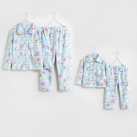 Parents and Children Pajama Flannel Baby Girl Boy Kids Thickened Home Suits Mom Cartoon Unisex Neutral Family Matching Outfits