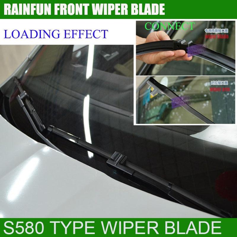 RAINFUN специальный автомобиль стеклоочистителя для SKODA OCTAVIA(04-13), 24+ 19 дюймов с высококачественной резиновой заправкой автоматический стеклоочиститель, 2 шт. в партии