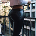 Sexy legging Woman High Elastic High Waist jeggings Trousers Pu leggings Pants Sexy Hip  Fitness legging workout leggings