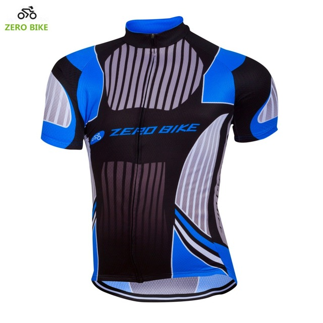ZERO BIKE High-quality Men s Outdoor Short Sleeve Cycling Jersey Quick Dry  Breathable 100% Polyester Cycling Shirt Blue 5487934f9