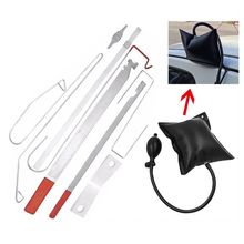 Fechadura da porta do carro para fora de emergência aberto desbloquear chave ferramentas kit + bomba de ar preto universal