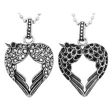 Necklace Heart Wings Hollow Men Women Pendant Fashion Jewelry Couple Gifts