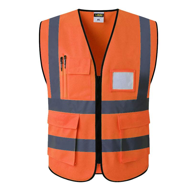 5048045e8b5 Chaleco de trabajo SFVest para hombre, chaleco de seguridad dorado, chaleco  reflectante, ropa