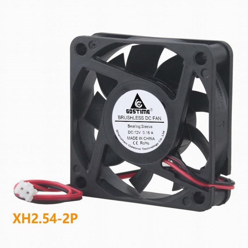 1 pcs Gdstime 12V 60x60x15mm Motor Brushless DC Cooling Fan 60mm x 15mm Computer Case Silent Radiator 6cm 6015 2Pin 0.16A