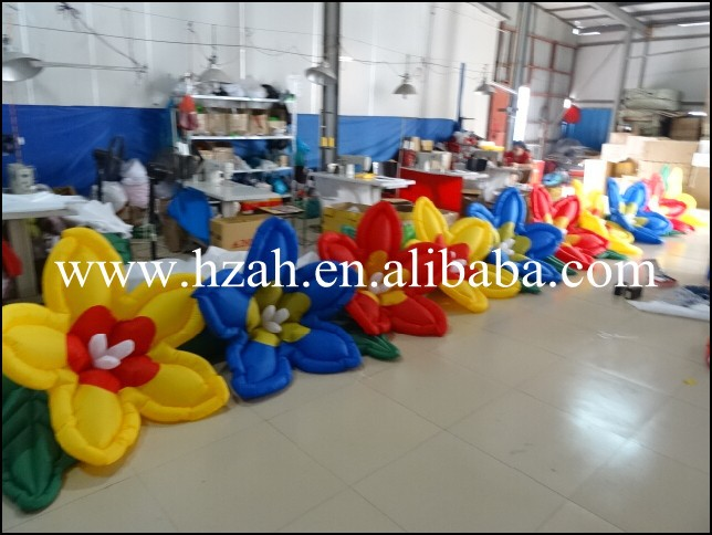 Colorful Wedding Inflatable Flower Lines with Pump 2017 new inflatable flower long wedding decoration flower