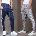 Corredores dos homens 2016 Homens da Ginástica Calças Pantalon Homme Mallas Pantalones Hombre Execução Grandes bolsos Jogging Jogger Sweatpants Masculinos