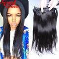 Clip en Extensiones Del Pelo Humano Recto Malasio Virginal Del Pelo Humano 10-28 pulgadas clip en el cabello humano afroamericano extensiones
