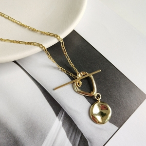 Image 5 - LouLeur 925 sterling silver nieregularna klamra wisiorek naszyjnik złoty wiatr przemysłowy kreatywny naszyjnik dla kobiet biżuterii prezent