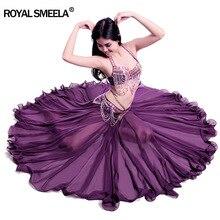 ผู้หญิงออกแบบใหม่ 720 องศาWaved Bellyเต้นรำกระโปรงBellydanceชุดเต้นรำฝึกสวมใส่ประสิทธิภาพBelly Danceเครื่องแต่งกาย