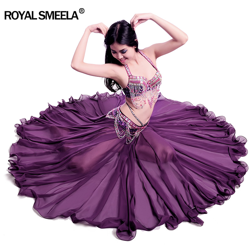 Free Shipping New Design 720 Degree Waved Belly Dance  Skirt Bellydance Dress Cloth Wear Costume Practise Or Performance -6020