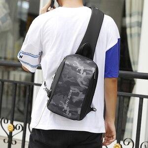 "Image 4 - Арктический Хантер мужская сумка с ремнем через плечо сумка Водонепроницаемый USB сумки через плечо для мужчин в стиле кэжуал Стиль Путешествия сумка нагрудная сумка подходит 9,7 ""iPad"