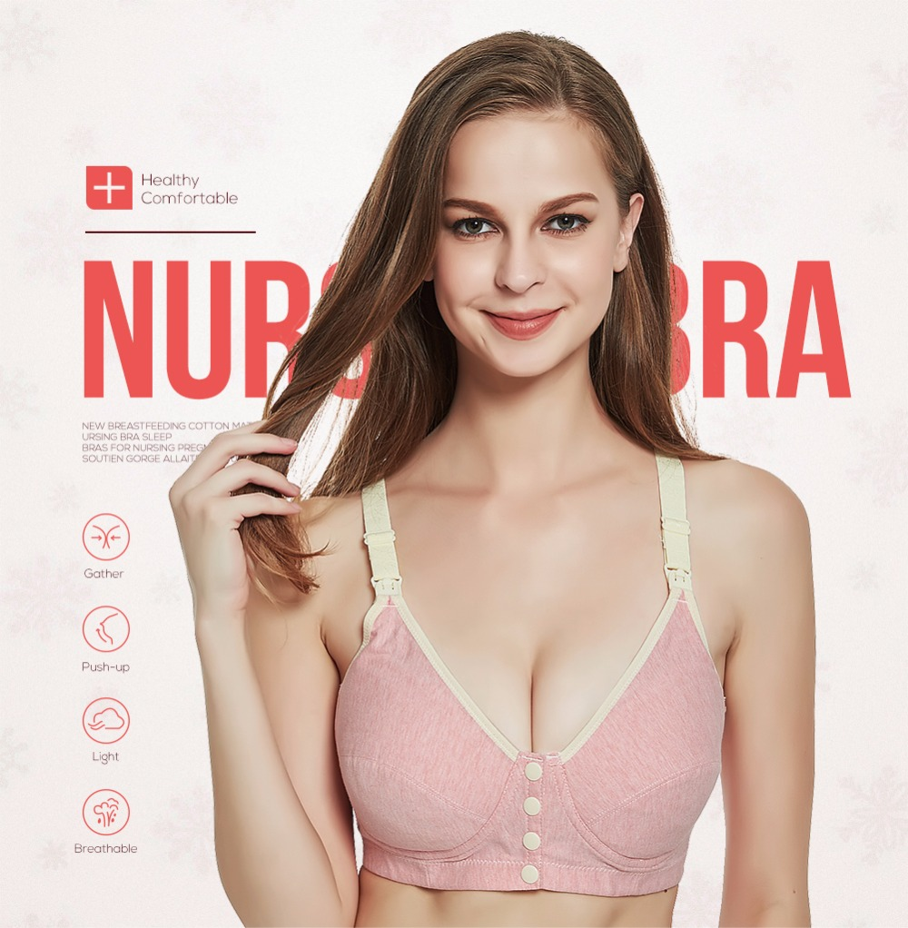 ebd3b75e55 Maternity nursing bra breast feeding tops sleep bras for pregnant women  Maternity Clothing Bras breastfeeding bra underwear