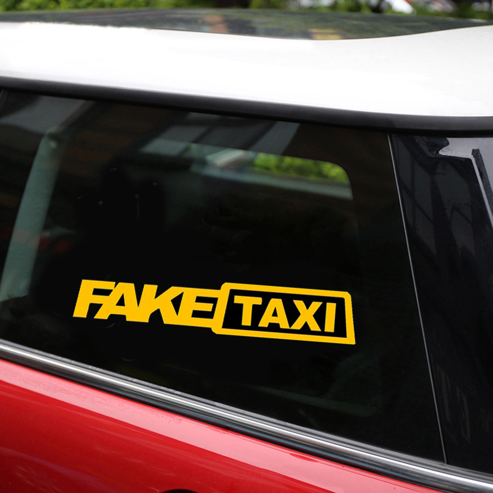 Aliexpress com buy 2pcs fake taxi stickers for car bumper stickers funny car stickers and decals car styling door body window vinyl stickers from reliable