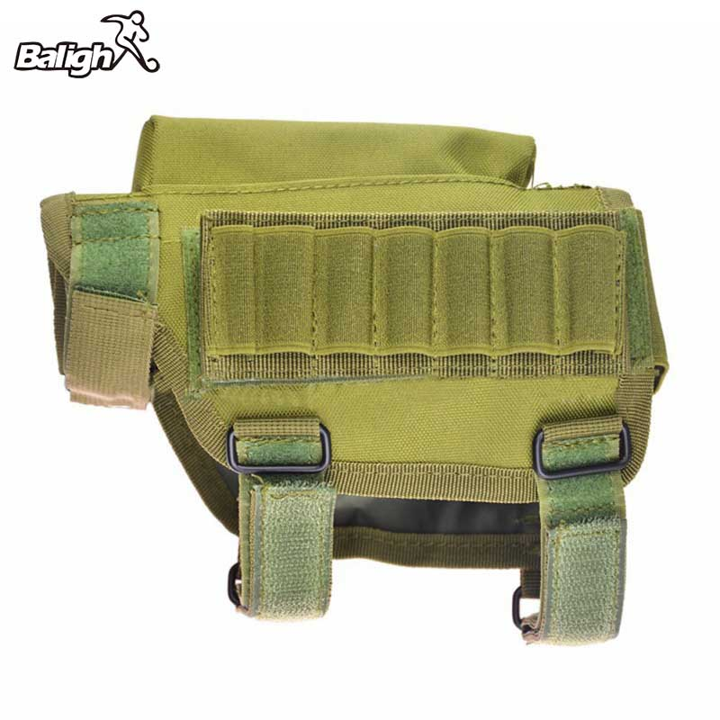 Nylon Portable réglable tactique bout à bout Stock fusil joue reste poche porte-balle sac accessoires de chasse