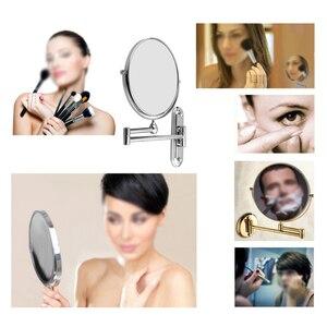 Image 4 - YOST srebrny rozszerzenie 8 cali kosmetyczne ścienny makijaż lustro do golenia lustro łazienkowe 7x powiększenie