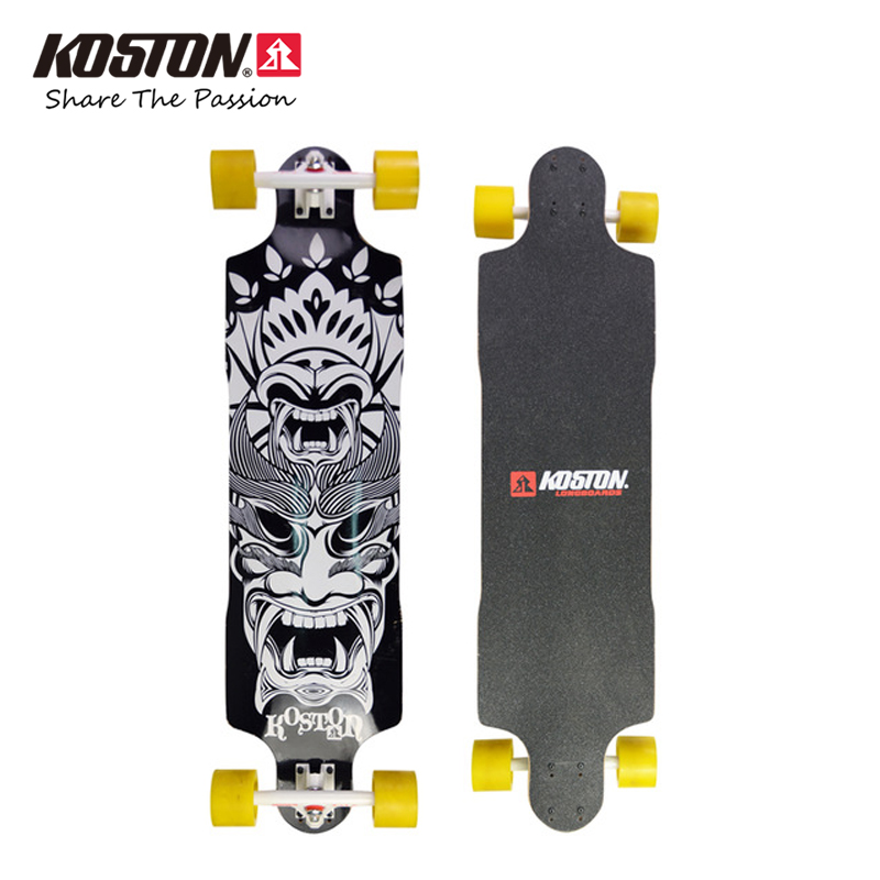 KOSTON pro longboard completes with ply canadian maple laminated inch drop through