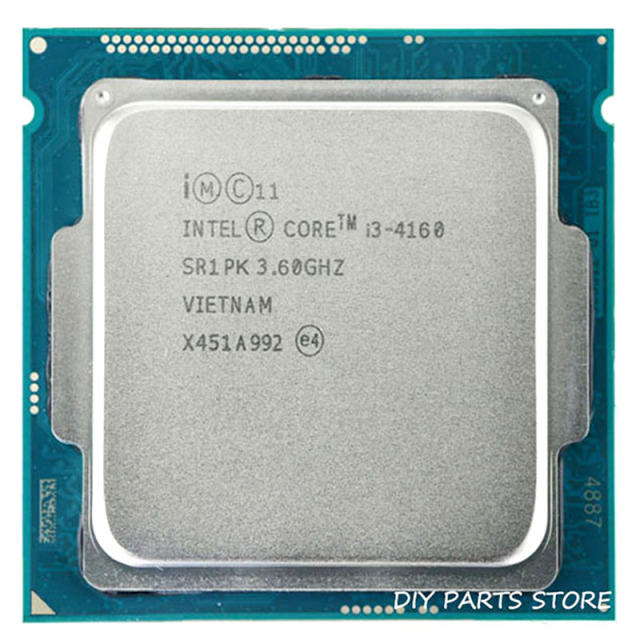Intel core  i3-4160 i3 4160 LGA 1150  3.60GHz DUAL-core 3.4MHZ RAM DDR3-1333, DDR3-1600 GPU HD4400