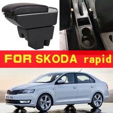 Leather Car Armrest For skoda  Arm Rest Rotatable saga leather car armrest for renault sandero arm rest rotatable saga