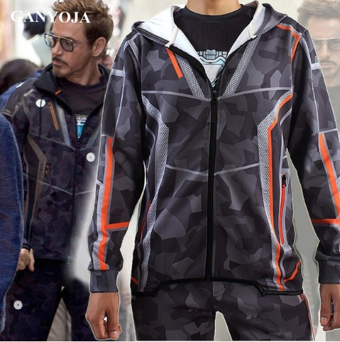 Avengers Infinity War Iron Man Tony Stark Jacket Cosplay Adult Costume Hooded Jacket