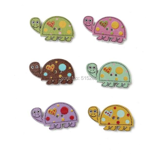 28 * 11 mm 100 unids mixtos de Color tortuga botones patrón de la ...