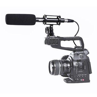 Pro BOYA BY PVM1000 Condenser Shotgun Microphone 3 Pin XLR Output on DSLR CameraPro BOYA BY PVM1000 Condenser Shotgun Microphone 3 Pin XLR Output on DSLR Camera