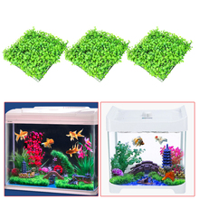 3Pcs Artificial Green Grass Plant Lawn Aquarium Fish Tank Landscape Garden Supplies Aquarium Decorations Ornaments V1NF