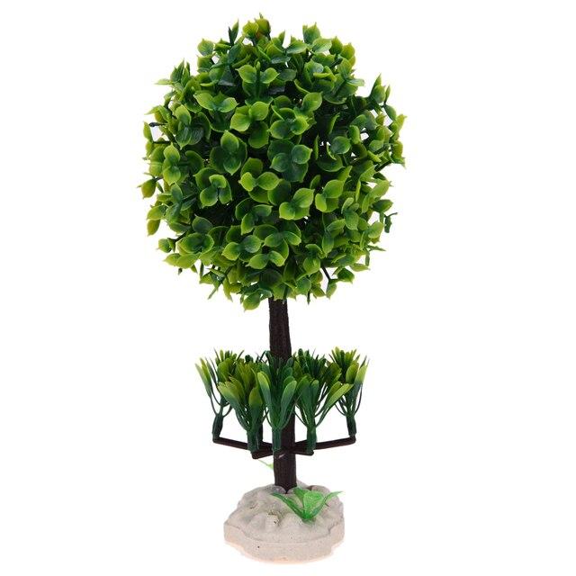 1pc Welcoming Sakura Emulate Bonsai Simulation Decorative Artificial Flowers Fake Green Plants Ornaments Home Decor