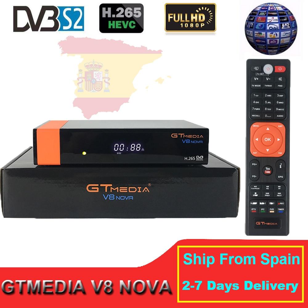 GTMedia V8 Nova DVB S2 Full HD H 265 HEVC Satellite Receiver Stable 1 Year Europe