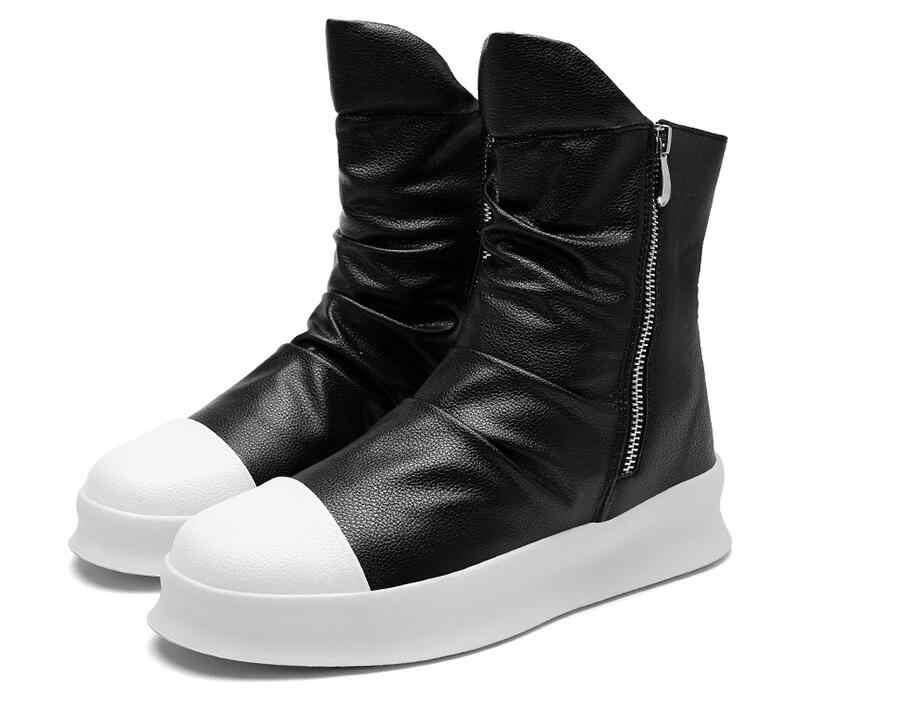 Хип-хоп мода на осень-зиму Для мужчин ботинки челси Slip-On Туфли под платье танцевальная обувь на платформе высокие кроссовки ботинки martin