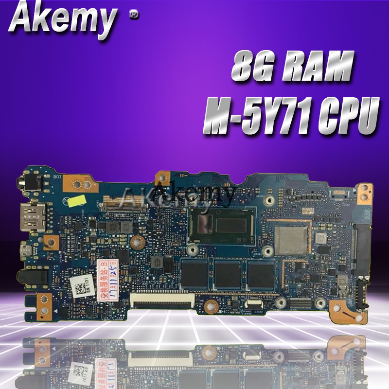 Akemy UX305FA Laptop motherboard for ASUS UX305FA UX305F UX305 Test original mainboard 8G RAM M 5Y71