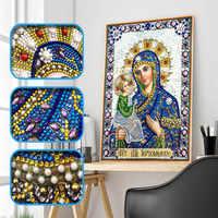 5d Diy Diamant Kreuz Stickerei Symbol Charakter Kristall Diamant Mosaik Spezielle Förmigen Diamant Stickerei Strass Dekoration